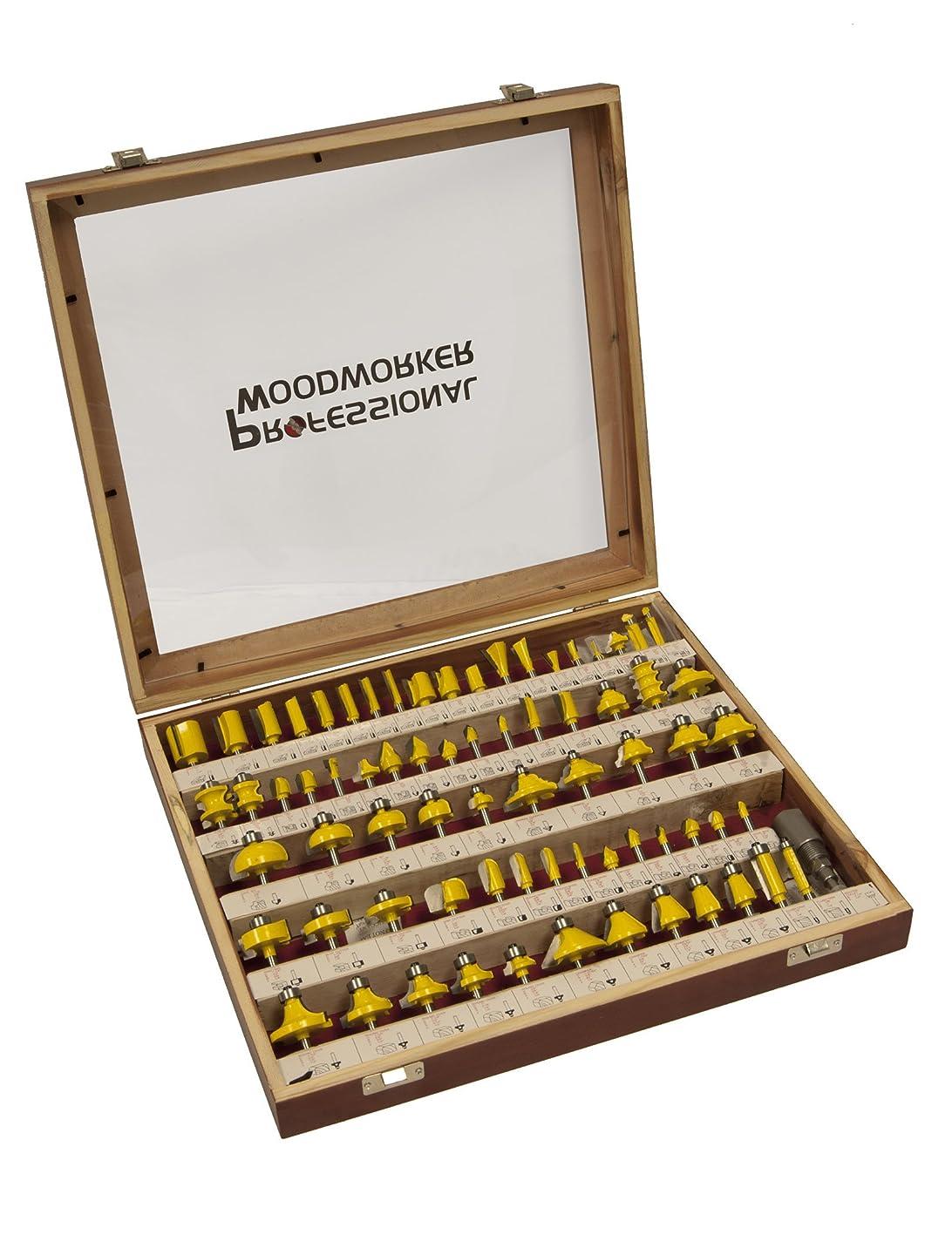 再生的僕のオーバーランProfessional Woodworker 7744 75-Piece Router Bit Set by Professional Woodworker