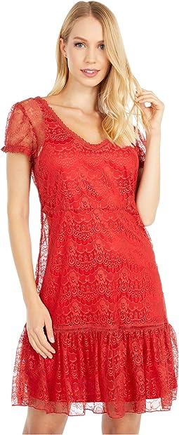Hannah Cap Sleeve Lace Dress