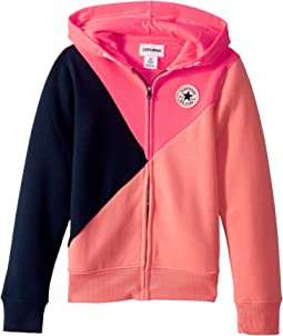 Converse Kids - Color Blocked Front Zip (Big Kids)