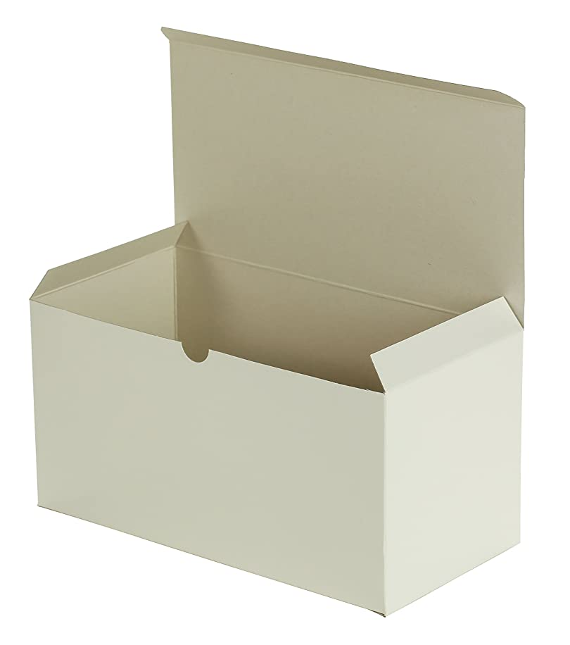 Premier Retail Packaging 10 Count White Gloss Gift Box, 12 x 6 x 6