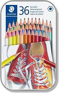 STAEDTLER 175 M36 ST Lápices de colores con forma hexagonal, Caja con 36 colores Variados
