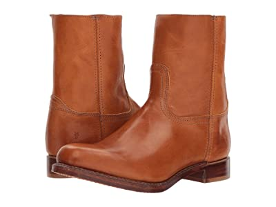 Frye Campus Inside Zip (Cognac Vintage Veg Tan) Men