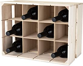 True 5283 Wooden Home Decor Alcohol Bottle and Storage Wine Rack, Accessories, One Size, Multicolor
