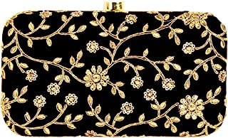 999e5b55a2a Tooba Handicraft Party Wear Hand Embroidered Box Clutch Bag Purse For  Bridal, Casual, Party