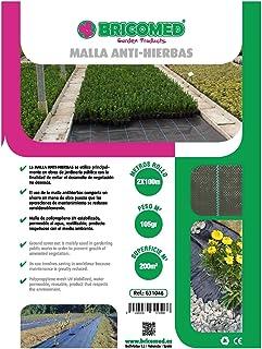 Bricomed  - Malla anti-hierba de 105 gr/m², 2 x 100 m , Negro