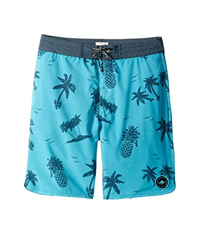 Rip Curl Kids Poolside Layday Boardshorts (Big Kids) (Teal) Boy
