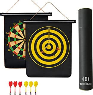 Bluehouse Dart Magnetic - Magnetic Darts Board Game Set - Magnet Boards Replacement for Kids and Big Teens and Adults - Safety with Small Arrows, 15 inch, Easy to Hang Anywhere