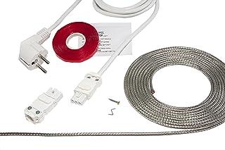 T-Stripe - Set completo para evitar la condensación de agua en ventanas, cable calefactor eléctrico 230 V, 4,40 - 5,40 m