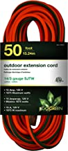 GoGreen Power GG-13850 – 14/3 50' SJTW Outdoor Extension Cord – Lighted End