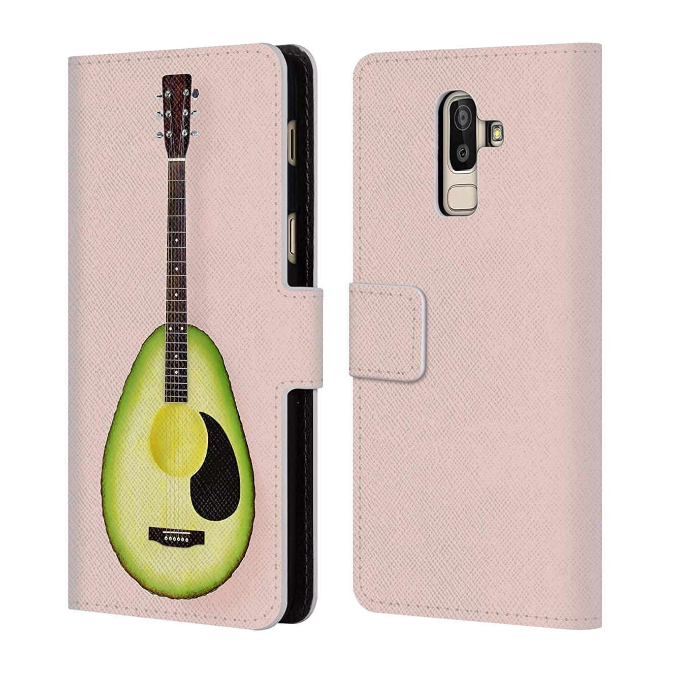 Official Paul Fuentes Avocado Guitar Pastels Leather Book Wallet Case Cover for Samsung Galaxy J8 (2018)