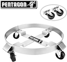 Pentagon Tool   Heavy Duty   5 and 30-Gallon Drum Dolly   Single   Silver