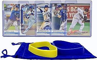 Kansas City Royals Baseball Cards: Whit Merrifield, Adalberto Mondesi, Jorge Soler, Chris Owings, Brad Keller ASSORTED Trading Card and Wristbands Bundle