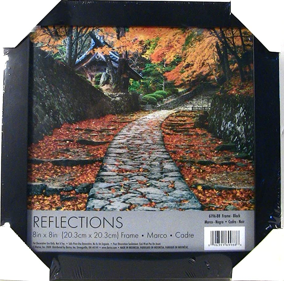 Darice 619A-88 Reflections Picture Frame, 8 by 8-Inch, Black