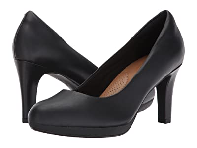 Clarks Adriel Viola (Black Leather) High Heels