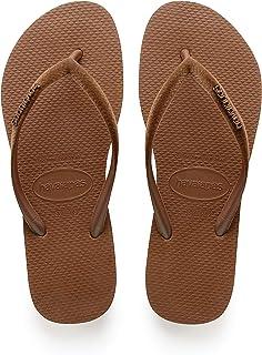 Havaianas Women's Slim Velvet Flip-Flops Rust 37-38 M Bra