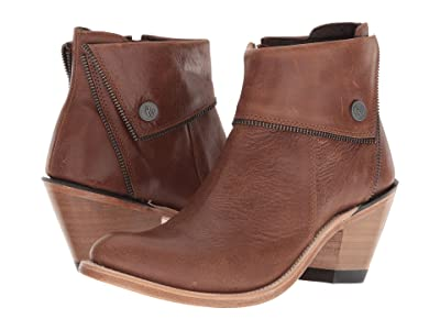 Old West Boots Zippered Ankle Boot (Brown) Cowboy Boots