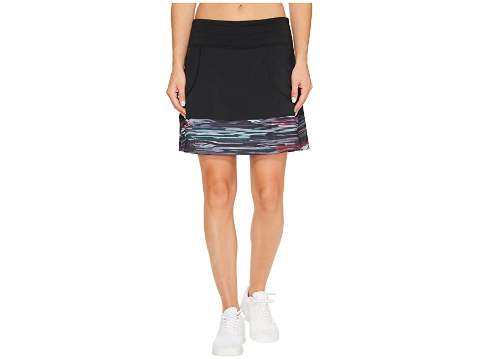 Skirt Sports Mod Quad Skirt (Black/Romance Print) Women