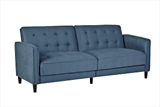 Container Furniture Direct SB-9040 Madelina Modern Fabric Convertible Tufted Sleeper Sofa, 81