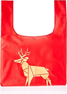 Trifine Unisex Trifine Reusable Shopper Totes, Deer Red, One Size