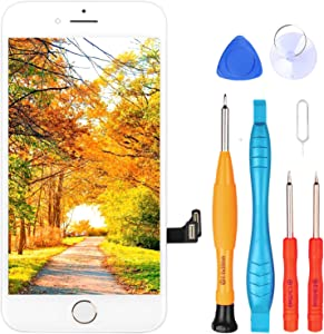 Ayake for iPhone SE 2020 Screen Replacement with Home Button, Full Assembly Retina LCD Touch Digitizer with Camera+Earpiece Speaker+Sensors+Repair Tools for A2275, A2298, A2296(Gold)