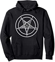 Inverted Pentagram Hoodie with Baphomet Goat Head