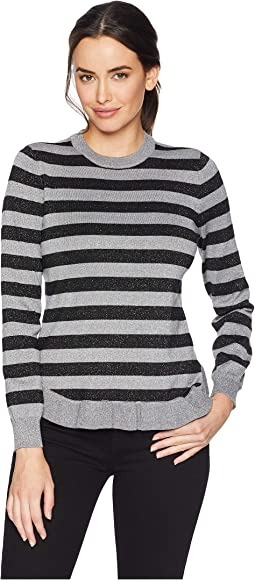 Rounded Neck Stripe Sweater