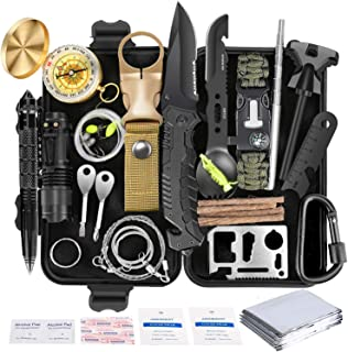 Survival Kit 35 in 1, First Aid Kit, Survival Gear, Survival Tool Gifts for Men Boyfriend Him Husband Camping, Hiking, Hunting, Fishing