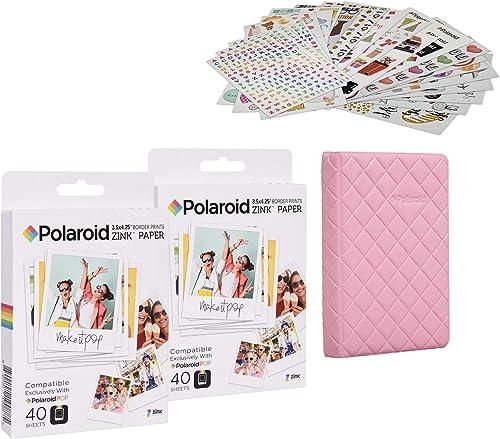 wholesale Polaroid online 3.5 x 4.25 inch Premium Zink Paper 80 Pack Sticker Kit, 2021 Sticker Bundle online