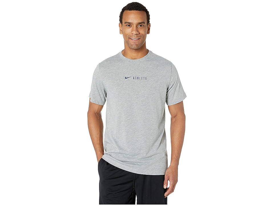 Nike Dry Tee DB Athlete SM (Dark Grey Heather/Blue Void) Men