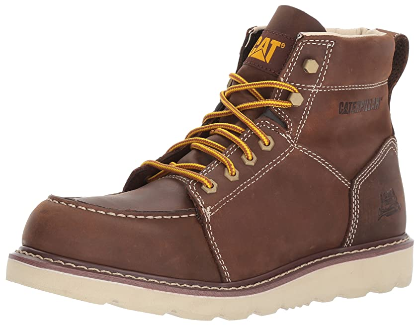 勤勉優先権優れました[CATERPILLAR] Men's Tradesman/Chocolate Brown Industrial & Construction Shoe
