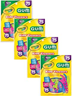 Crayola Kids' Flosser, 75 Count (Pack of 4 (75 Count))