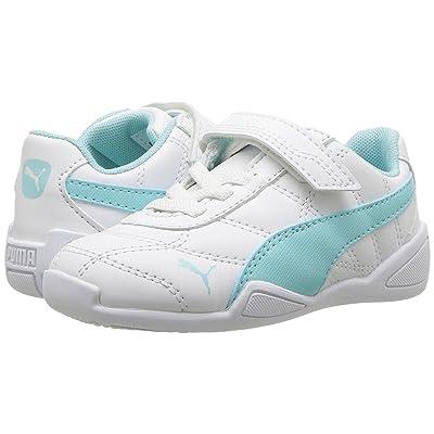 Puma Kids Tune Cat 3 V (Toddler) (PUMA White/Island Paradise) Girls Shoes