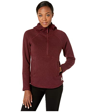 The North Face Crescent Hooded Pullover (Deep Garnet Red Heather) Women