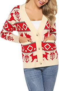NUOVO Donna BABY Deer BAMBI Natale Xmas maglia maglione invernale pullover