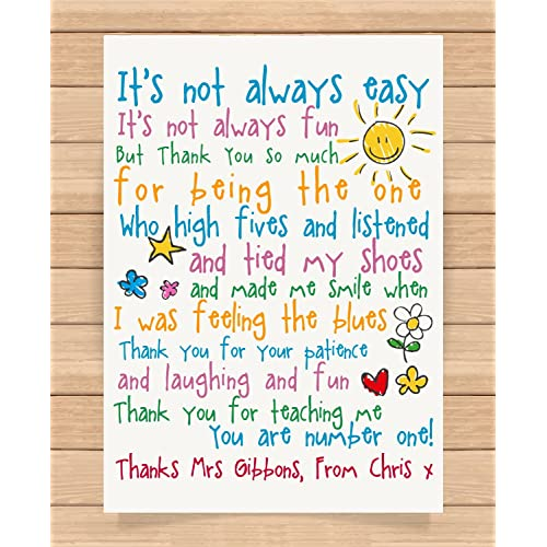 69d42f0d276 Personalised Presents Gifts For Teachers Leaving Christmas Xmas End Of Year  / Term Gifts From Nursery