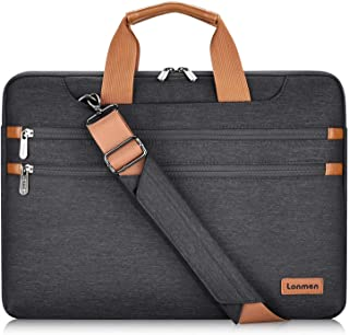 LONMEN 14 15.6 17 Inch Laptop Shoulder Bag,Computer Sleeve Carrying Case