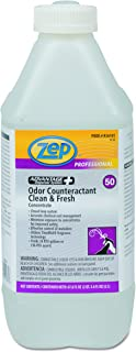 Zep Professional R36101CT Concentrated Odor Counteractant, Clean and Fresh, 67.6 oz. Bottle (Pack of 4)