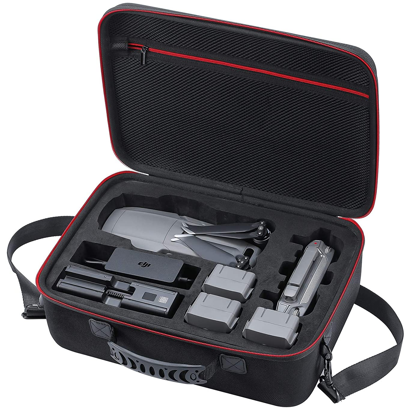Zadii Hard Carrying Case Compatible with DJI Mavic 2 Pro/DJI Mavic 2 Zoom Drone, Travel Bag Fit Fly More Combo, Hold 4 Batteries, Car Charger, Charging Hub and Power Adapter