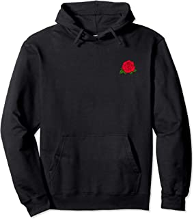 black sweatshirt with red roses
