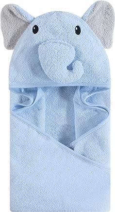 Hudson Baby Unisex Baby Animal Face Hooded Towel, Blue Elephant 1-Pack, One Size