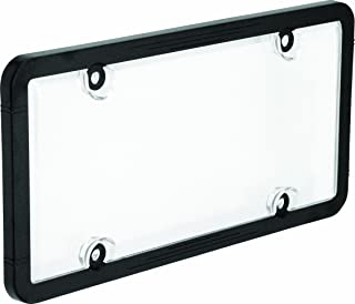 Bell Automotive 22-1-45601-8 Universal License Plate Frame with Clear Cover, Black