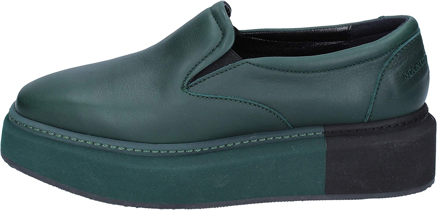 MANUEL BARCELO Loafers-shoes Womens Leather Green
