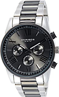 ساعة اليد انتربرايز بعرض انالوج وسوار من الستانلس ستيل للرجال من اكريبوس XXIV، حركة كوارتز