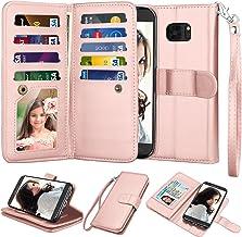 Njjex for Galaxy S7 Edge Wallet Case/Samsung S7 Edge Case, Luxury PU Leather [9 Card Slots] ID Credit Folio Flip Cover [De...