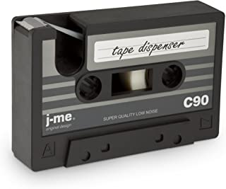 j-me Cassette Tape Dispenser - Black. an Ideal Stationery Accessory for The Home or Office Desk   Compatible with Scotch Tape & 3M Tape