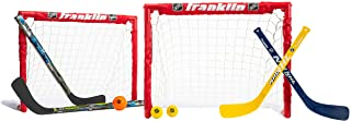 Franklin Sports 14213X Kids Folding Hockey 2 Goal Set - NHL - Street Hockey & Knee Hockey - Includes 2 Adjustable Hockey S...