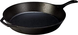 Lodge 15 Inch Pre Seasoned Cast Iron Skillet. XL Classic Cast Iron Skillet for Family Size Meals (Renewed)