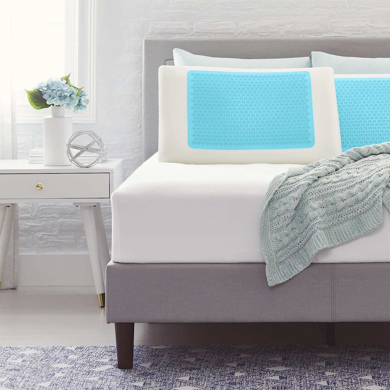 Comfort Revolution 5☆大好評 Blue Bubble Gel Queen 海外限定 + Memory Pillow Foam