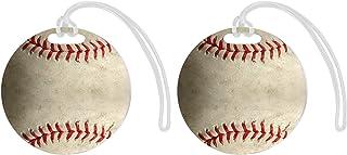 علامات الأمتعة الرياضية للحقائب الرياضية، قطعتين من بطاقات الالمنيوم على شكل دائرة