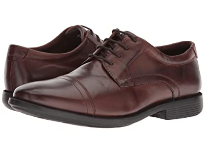 Nunn Bush Dixon Cap Toe Oxford with KORE Walking Comfort Technology (Brown) Men